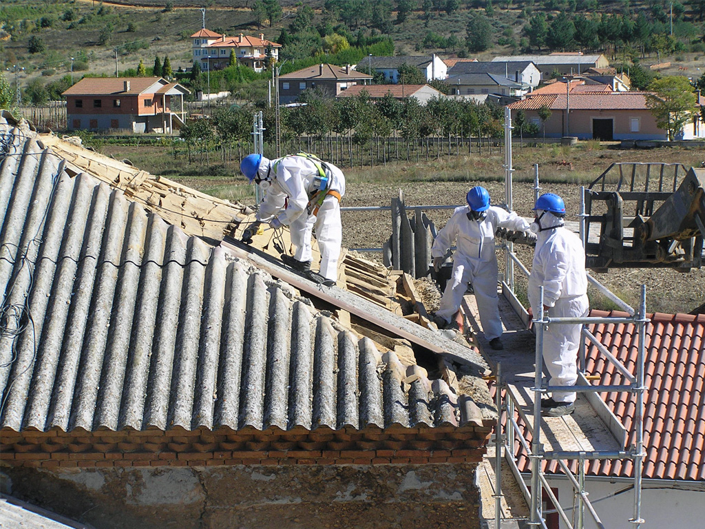oxigenio retirada de amianto tejados viviendas